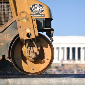 Asphalt Roller at the World War II Memorial