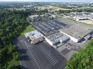 Paving a Large Commercial Parking Lot